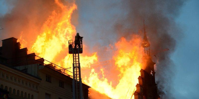 Bild vom Rathausbrand