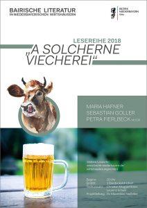 """""""A solcherne Viecherei!"""" - Plakat der Wirtshauslesungen 2018"""