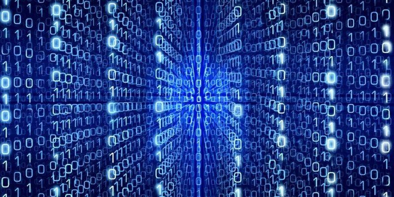 Binärcode: Zahlenmatrix als Symbol für Programmiersprache