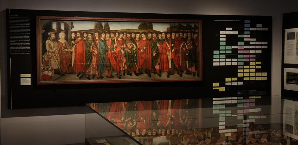 Das Babonen-Gemälde in der Dauerausstellung des Stadtmuseums Abensberg