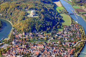 Luftbild Ludwigskanal bei Kelheim